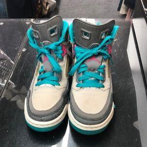 Jordan's size 5 1/2 multi-color boy sneakers